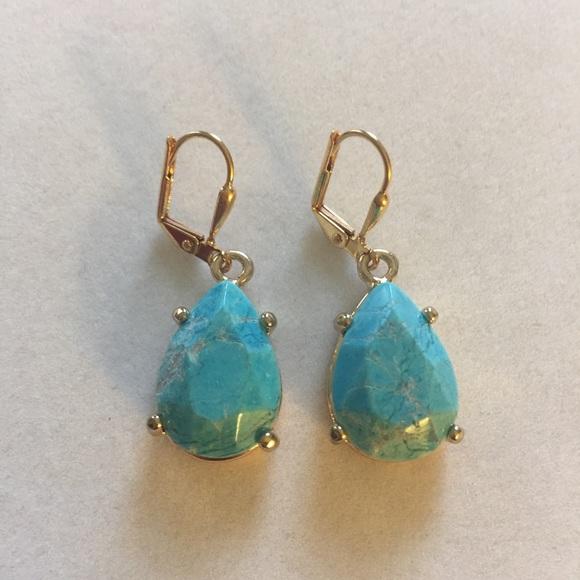 Framed Turquoise earrings